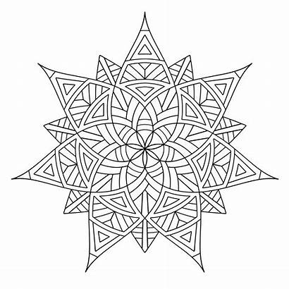 Geometric Coloring Pages Designs Printable Shapes Pattern
