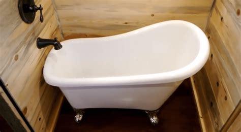 tiny house bathtubs superb craftsmanship defines this 30 tiny house on wheels