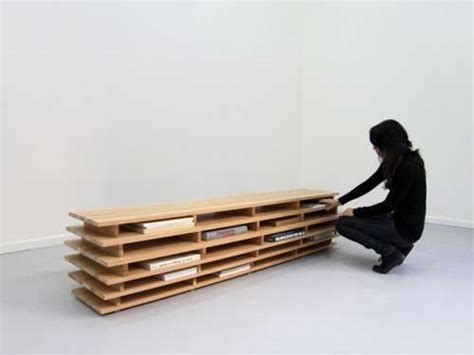 Horizontal Book Benches Bookcase By Aissa Logerot