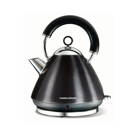 morphy richards kitchen accessories morphy richards black accents kettle 1 5 litre 7854