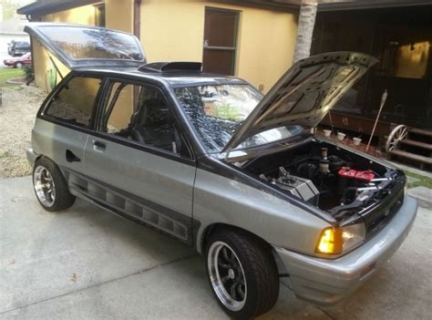 hayabusa mid engine  ford festiva bring  trailer