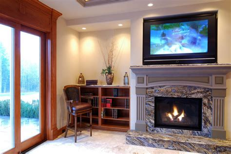 image of modern fireplace mantels four reasons not to slap that flat screen tv your