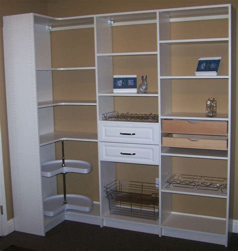 Pantry Cabinet Shelving Ideas by Corner Pantry Shelves