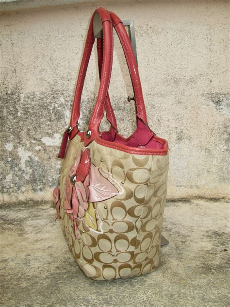 drayakeebag authentic coach signature bleecker flower floral applique handbagsold