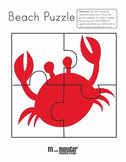 Printable Beach Puzzles Printables Going Puzzle Theme