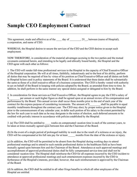 Employment Contract Uk Template Make Yours For Free