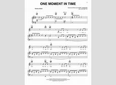 One Moment In Time sheet music by Whitney Houston Piano, Vocal & Guitar RightHand Melody
