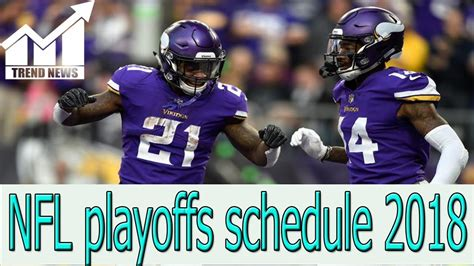 nfl playoffs schedule  times  tv channels