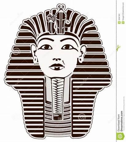Tutankhamun Mask Clipart Egyptian Pharaoh Outline Vector
