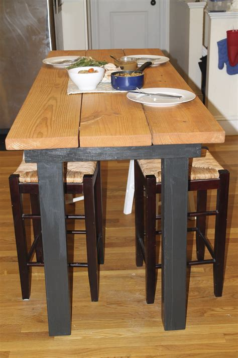 plans  build     bar height kitchen table