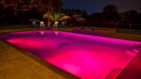 color lights  swimming pools poolside designs
