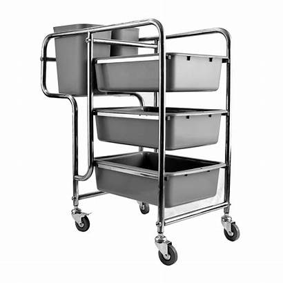Cart Restaurant Stainless Steel Trolley Housekeeping Equipment
