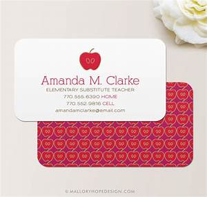 Business cards for teachers 48 free psd format download for Teacher business card template