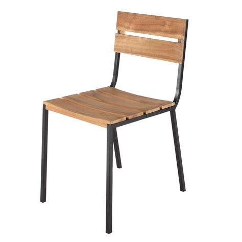 chaise de jardin maison du monde chaise de jardin en métal et acacia square maisons du monde