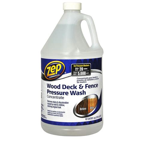 home depot zep floor zep 128 oz deck and fence cleaner case of 4 zudfw128