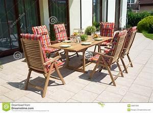 Luxury Garden Furniture Royalty Free Stock Photo
