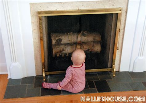 baby proof fireplace nalle s house a baby proof fireplace for the holidays