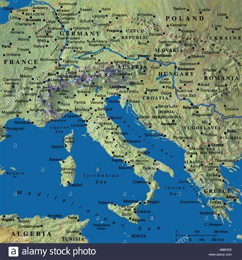 map maps europe italy croatia greece stock photo
