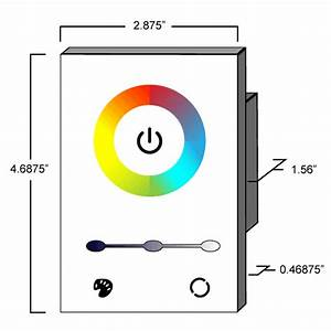 Rgb Led Color Wheel Controller For Single Gang Wall Mounting