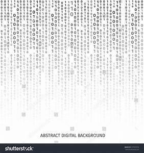 Binary Code Black White Background Digits Stock Vector ...