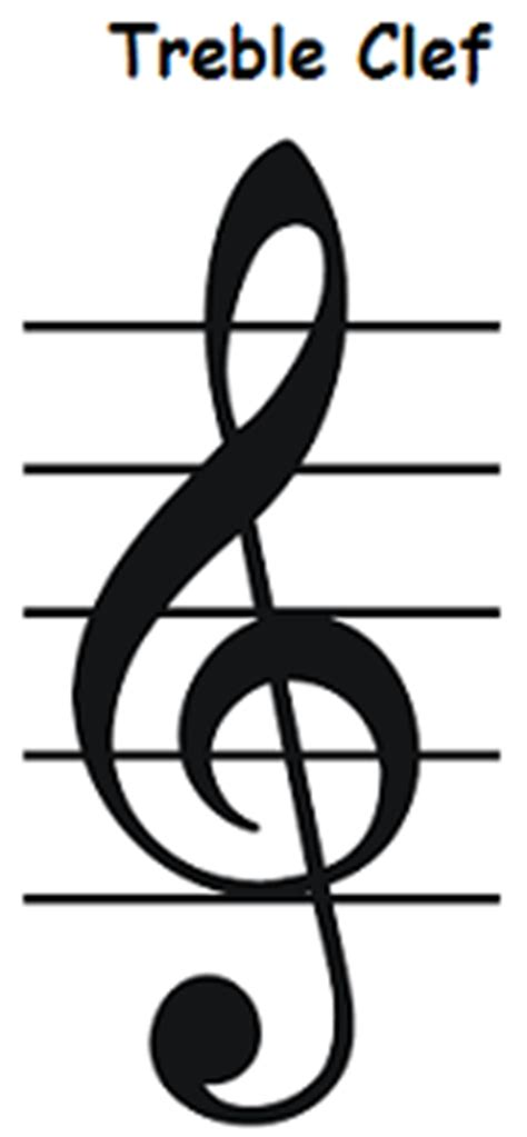 treble clef staff notes   draw