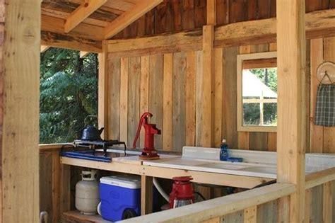 Primitive Outdoor Kitchen Rustic Kitchens
