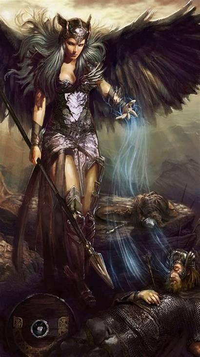 Valkyrie Iphone Dark Norse Warrior Mythology Phone