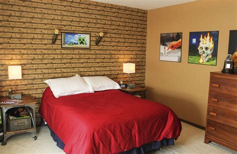 minecraft wallpaper  bedroom wallpapersafari