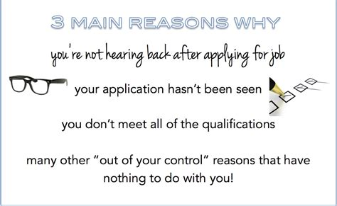 reasons why you re not hearing back after applying for a