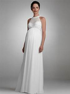 simple halter maternity wedding dress sang maestro With simple maternity wedding dresses
