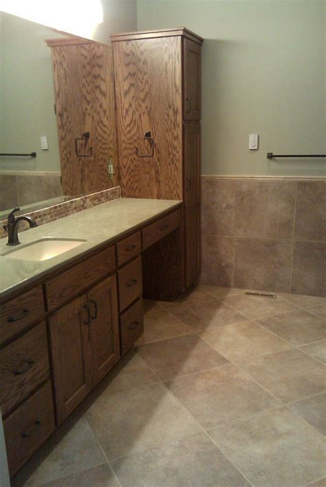 marazzi walnut canyon cream  tile installed