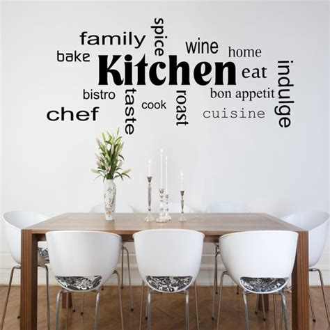 stickers phrase cuisine kitchen words phrases wall sticker room lounge quote decal