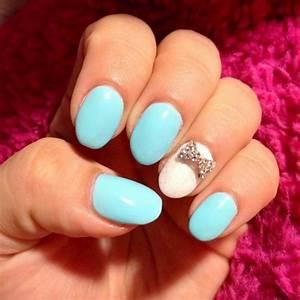 Cute Blue Nail With Diamond   Nail Color Ideas   Pinterest ...