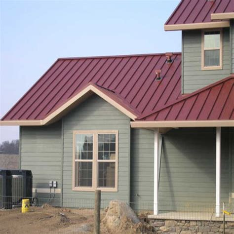impressive barn metal roofing 3 houses with red metal