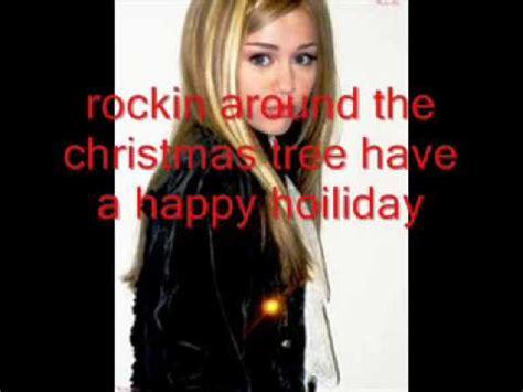 hannah montana rockin around the christmas tree song