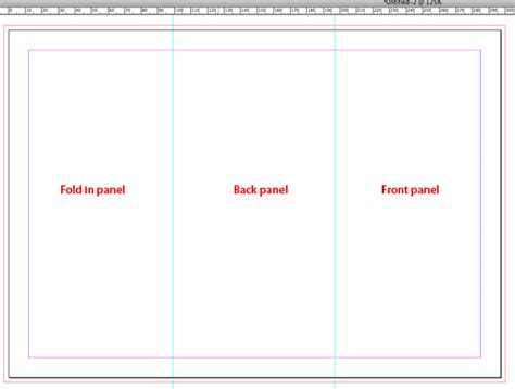 How To Set Up And Create A Tri Fold Tip Creating A Tri Fold Template In Indesign Cs5