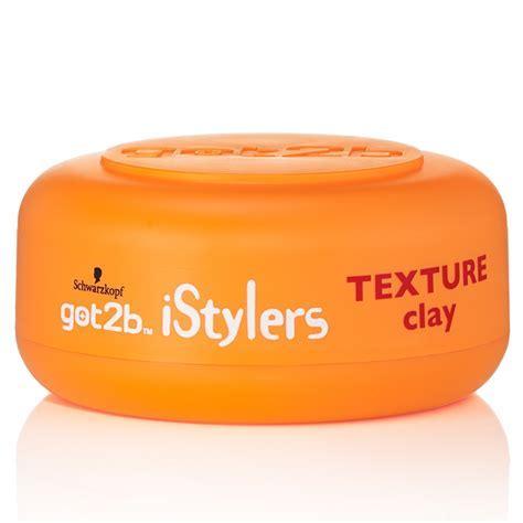 Schwarzkopf Got2b iStylers Texture Clay 75ml   Hair Care   B&M