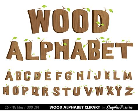 wood alphabet clipart wood digital alphabet letters wood