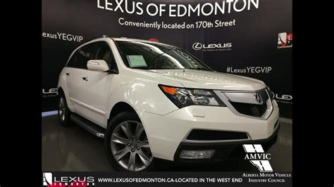 2013 Acura Mdx Review by Used White 2013 Acura Mdx Awd Elite Pkg Walkaround Review