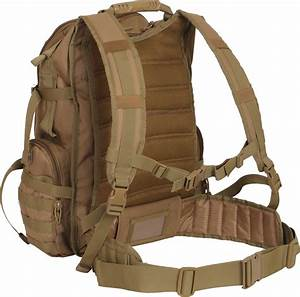 Coyote Brown Multi-chamber MOLLE Assault Pack