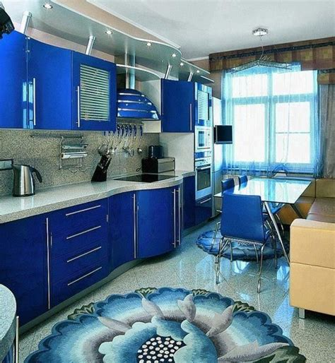 Royal Blue Kitchencheck The Area Rug  Kitchen & Dining