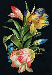Floral(Digital Painting) by chamirra on DeviantArt