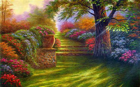 Summer Garden Wallpaper 37 Home Ideas Enhancedhomesorg