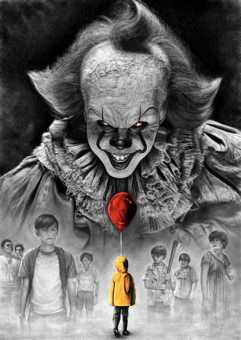Background Digital Pennywise Clown Pennywise Wallpaper by Stephen King It 2017 Pennywise Vs Losers Club By