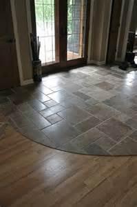 floor tile on slate cobblestone pavers and tile looks like wood