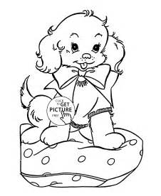 Christmas Puppy Coloring Pages Printable