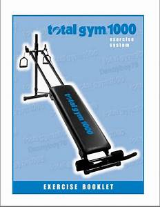 Total Gym 1000 Exercise Booklet Manual