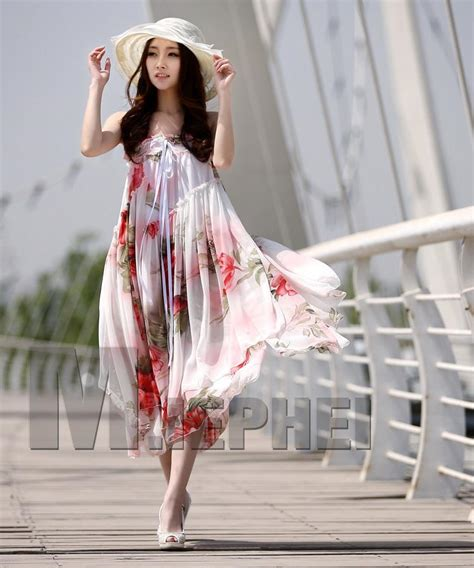 hot fashion ladies maxi dress boho bohemian chiffon dress summer strapless dress girls skirts