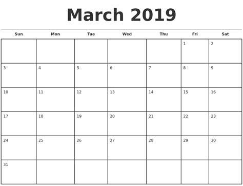 2019 Calendar Template 2019 Monthly Calendar Template 2018 Calendar With Holidays