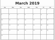 2019 Monthly Calendar Template 2018 calendar with holidays
